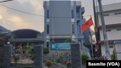 Gedung Pastoral ST Herkulanus di Depok, Jawa Barat. (Foto: VOA/Sasmito)