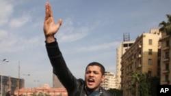 ການປະທ້ວງຕໍ່ຕ້ານປະທານາທິບໍດີ Mubarak ທີ່ອີຈິບ ວັນທີ 1 ກຸມພາ 2011.