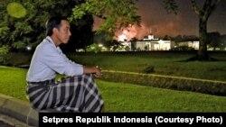 Presiden Joko Widodo Merayakan Malam Tahun Baru di Istana Bogor
