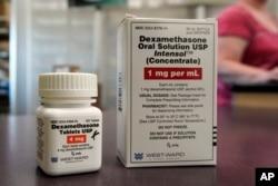 Obat Dexamethasone di sebuah apotik di Omaha, Nebraska, 16 Juni 2020. (Foto: dok).