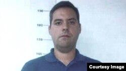 Imagen oficial del detenido activista Yon Goicochea provista por el Ministerio del Interior de Venezuela.