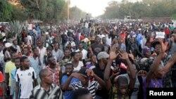 Des partisans de Moise Katumbi, candidat à la présidentielle, à Lubumbashi, en RDC, le 11 mai 2016.