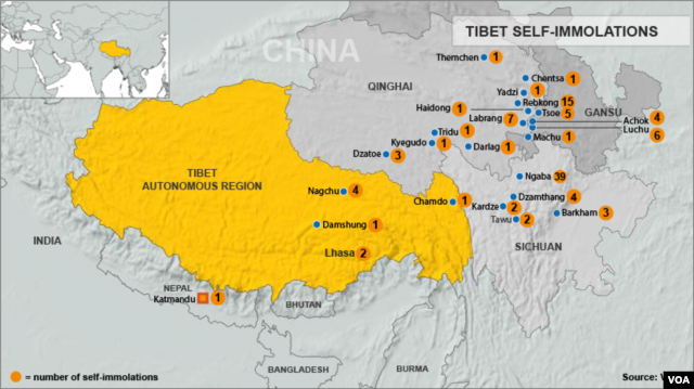 Tibet Immolations - updated February 26, 2013