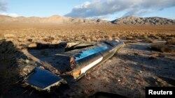 """維珍銀河公司的實驗宇宙飛船""""宇宙飛船二號""""在試飛過程中墜毀"""