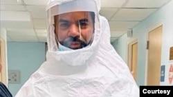 传染病专家拉吉夫·费尔南多医生2020年3月18日在医院。(照片由本人提供)