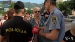 Radnici hotela Ero pred Vladom FBiH u Mostaru