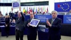 Oposición venezolana recibe Premio Sajarov