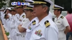 VOA60 America - US Navy Holds Memorial Service for 7 Sailors Killed in Crash