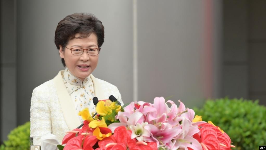 资料照:香港特首林郑月娥(photo:VOA)