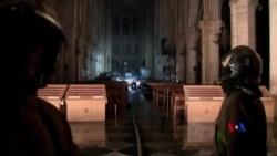 2019-04-16 美國之音視頻新聞: 巴黎聖母院大火後主體結構倖存