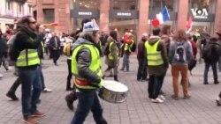 Fransada Sarı Jiletlilər artıq bir ildir etiraz edirlər