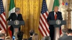Donald Tramp İtaliya baş naziri ilə mətbuat konfransında