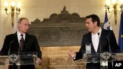 Володимир Путін і прем'єр-міністр Греції Алексіс Ципрас