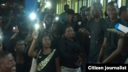 Manifestação estudantes Cabinda Universidade Lusíada - Angola 6 de Abril 2015