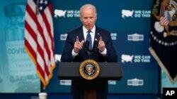 조 바이든 미국 대통령이 지난 6일 백악관에서 신종 코로나바이러스 백신 접종 관련 연설을 했다.
