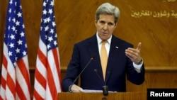 21일 존 케리 미 국무장관이 요르단 암만에서 가진 기자회견에서 러시아 측과 시리아 휴전을 위한 잠정합의에 도달했다고 밝혔다. (자료 사진)