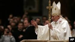 Pope Benedict XVI, at Vatican's St. Peter's Basilica, Dec. 12, 2011.