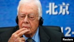 """El expresidente Jimmy Carter visitó Corea del Norte anteriormente, incluso como parte de una delegación llamada """"The Elders"""" integrada por exgobernantes y mujeres."""