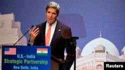 克里敦促印度為防止氣候變化採取行動