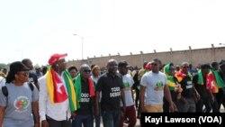 Manifestation du Front citoyen Togo , à Lomé, 5 octobre 2018. (VOA/Kayi Lawson)