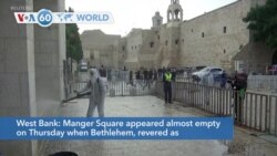 VOA60 World- Manger Square almost empty when Bethlehem, began Christmas Eve celebrations amid COVID-19