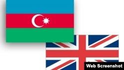 Azərbaycan və Böyük Britaniya bayraqları