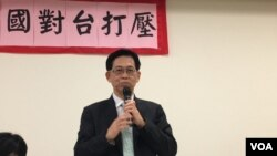 华府台湾同乡会会长简明子(美国之音钟辰芳拍摄)