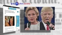 Manchetes Americanas 1 Novembro: Hillary e Trump a uma semana do dia D