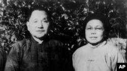 历史照片:邓小平夫妇在江西下放的时候。(1972年)