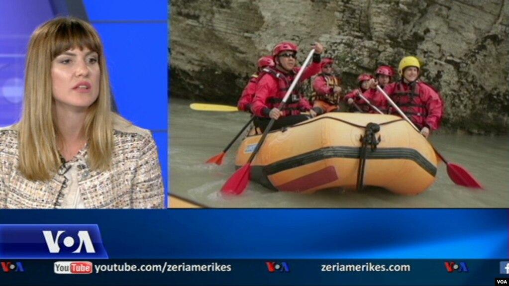 """Turizmi kulturor në Shqipëri, aktiviteti sportiv """"rafting"""""""