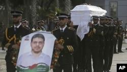 مراسم تشییع «فاذی البطش» مقام بلندپایه حماس در نوار غزه.
