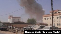 Two explosions targeted a local government building in the central Somalia town of Galkayothat, in the semi-autonomous Puntland region, Aug. 21, 2016.
