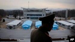 2016年2月22日,位於板門店的南北韓非軍事區。(資料照片)