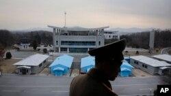 2016年2月22日,位于板门店的朝韩非军事区。(资料照片)
