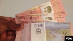 Notas de Kwanzas, Angola
