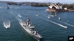 2013年10月4日澳大利亞慶祝海軍建立100周年盛況。