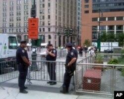 9/11周年日纽约街头安全戒备森严