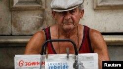 En Cuba sólo circulan dos diarios, Granma y Juventud Rebelde, los dos oficiales y controlados por el Partido Comunista de la isla.