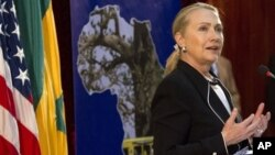Госсекретарь Хиллари Клинтон. Дакар. Сенегал. 1 августа 2012 г.