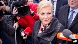 Novoizabrana predsednica Hrvatske Kolinda Grabar Kitarović