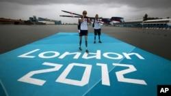 29일 런던 장애인 올림픽 개막에 앞서 막바지 훈련 중인 선수들.