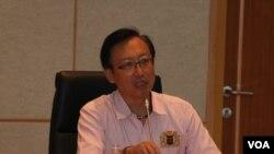 2016年8月28日,台湾外交部次长吴志中出席李登辉基金会主办的一场关于台湾民主20周年的研讨会。(美国之音林枫拍摄)
