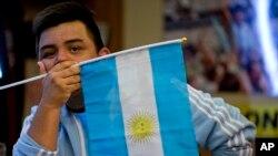 Un supporter argentin lors de la Copa America, 27 juin 2016.