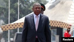 Le president de l'Angola Joao Lourenco à Kinshasa, en RDC, le 14 février 2018.
