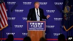 Republikanski predsednički kandidat Donald Tramp danas u Getisburgu
