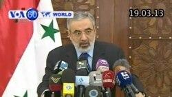 Syria: Chính phủ nói phe nổi dậy sử dụng vũ khí hóa học (VOA60)