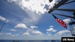 美國與印度海軍2020年7月20日在印度洋進行合作演習(美國海軍照片)