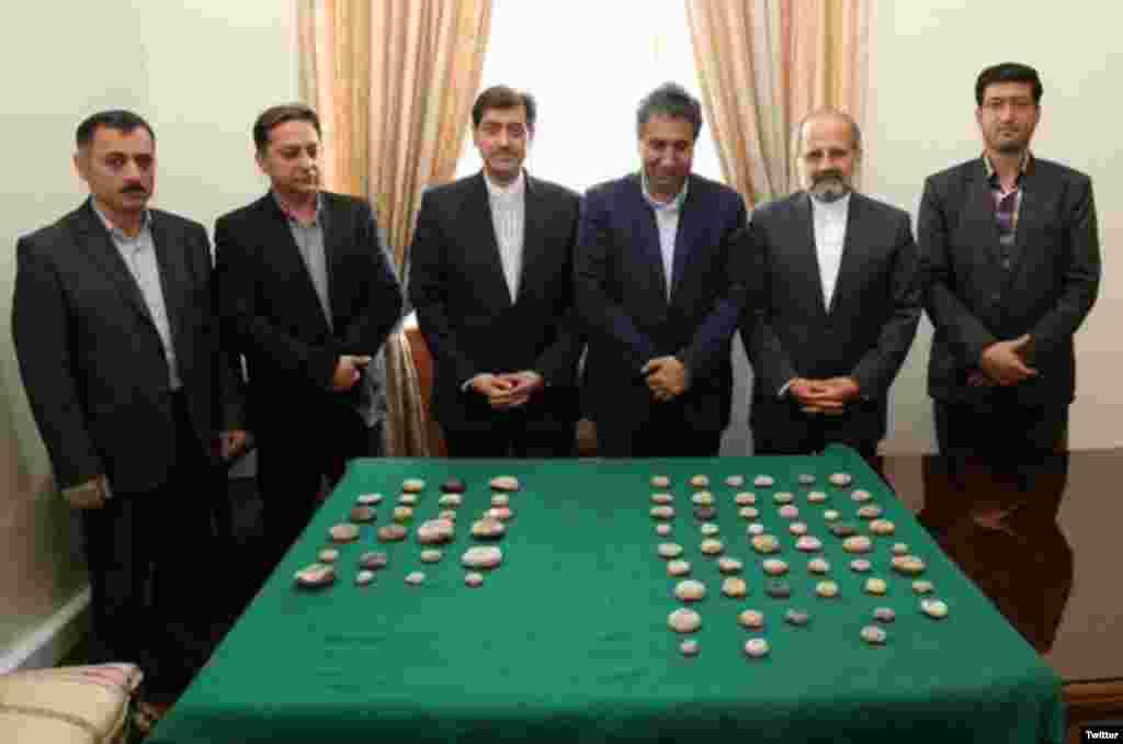مهرهای ساسانی و اشیای تاریخی ایران که از آمریکا بازگشت.