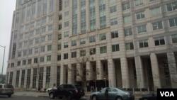 美国移民海关执法局华盛顿办公楼(美国之音王南拍摄)