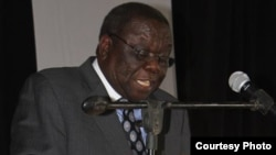 Morgan Tsvangirai addresses his party members Saturday. (Photo: MDC website)